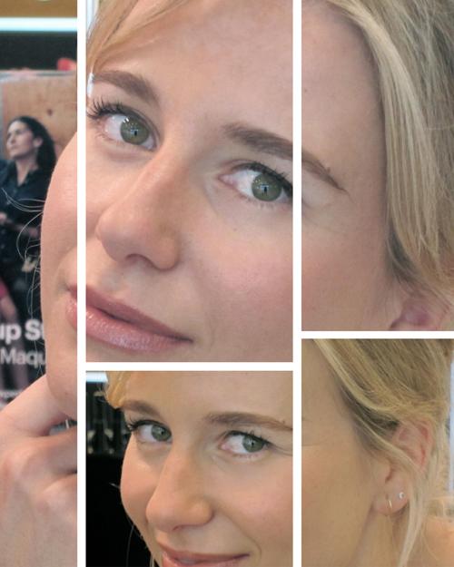 Resultado de la sesión de maquillaje de María León