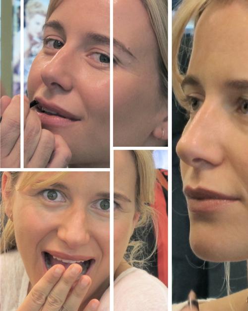 María León en la sesión de maquillaje de Bobbi Brown