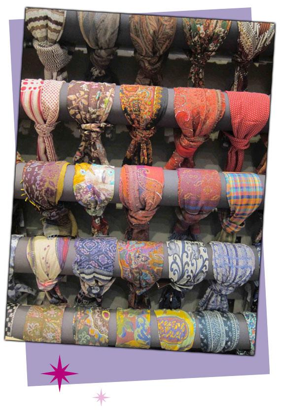 Algún fular de la tienda Aïta de Madrid (Claudio Coello 16).