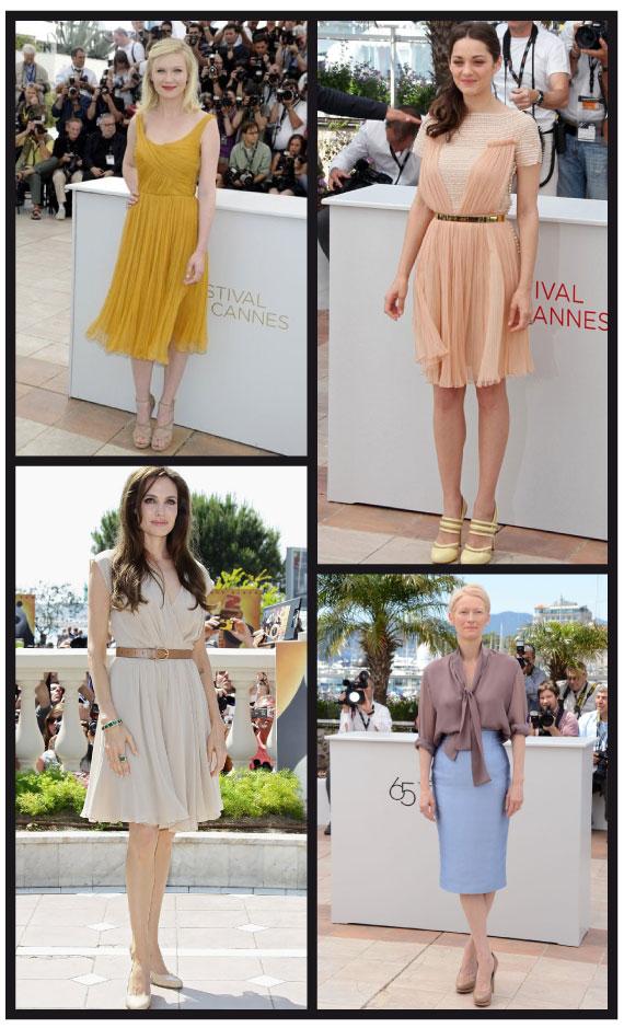 Looks trandy de celebrities en el Festival de Cine de Cannes