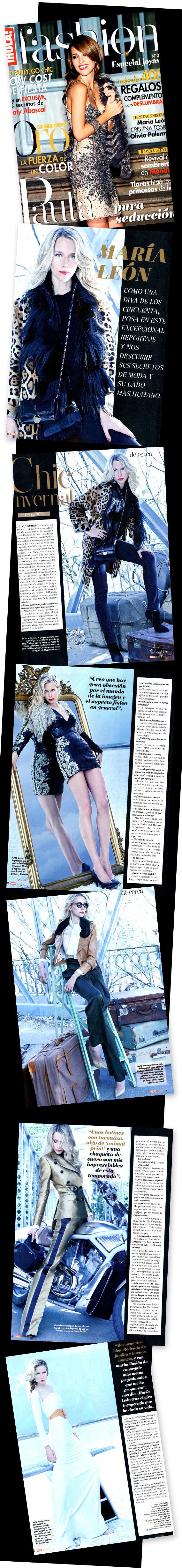 María León en la revista Hola fashion