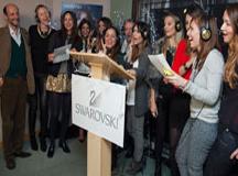 Cantando con Swarovski