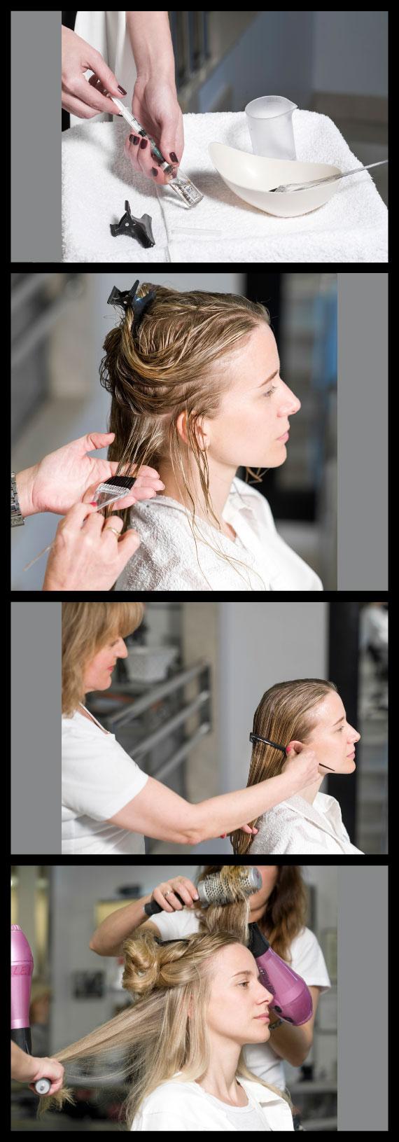 Paso a paso del tratamiento Bótox para el cabello del salón Cheska con María León
