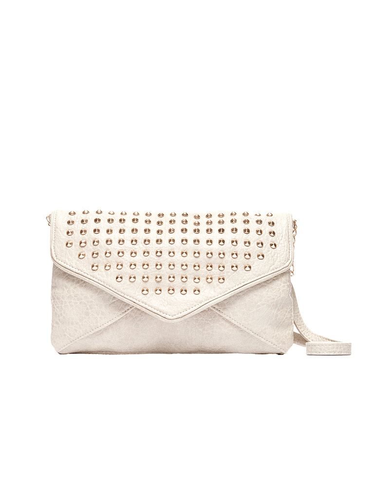 Bolso blanco con tachuelas - Blanco