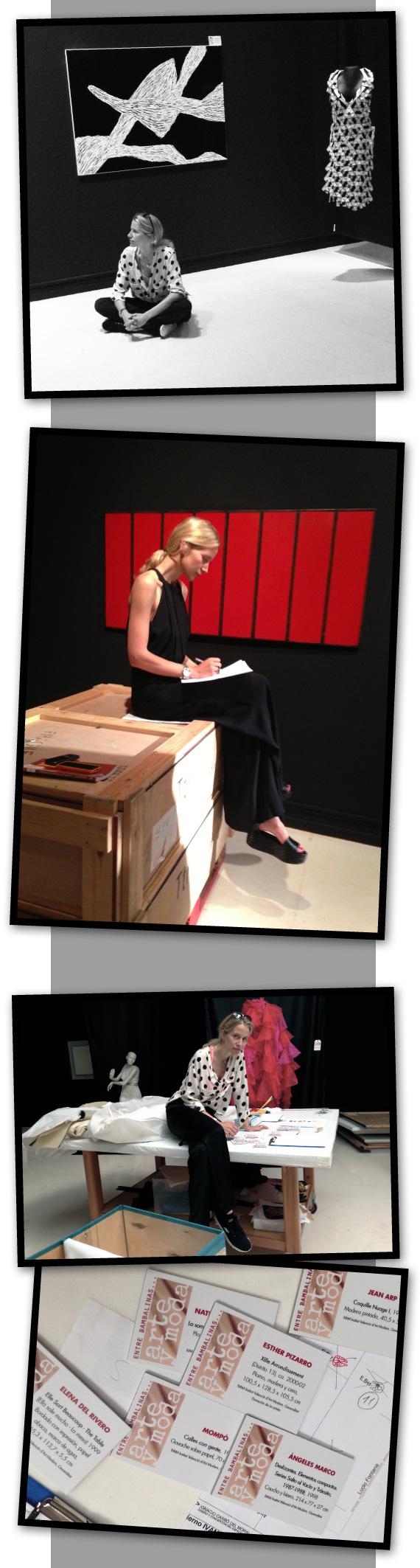 Maria Leon momentos de la exposición Instituto Valenciano de Arte Moderno