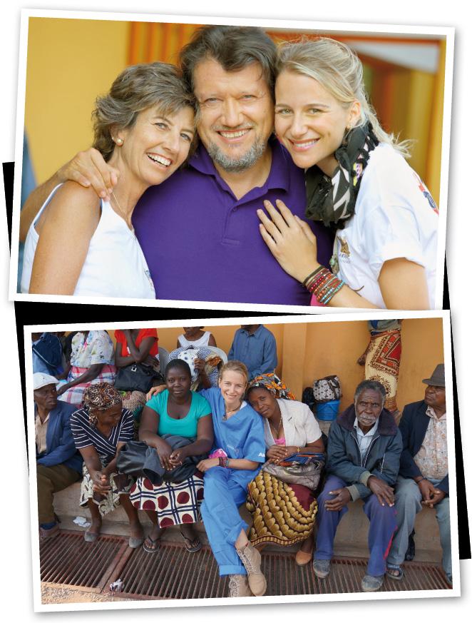 María León con los hermanos Barraquer en Mozambique