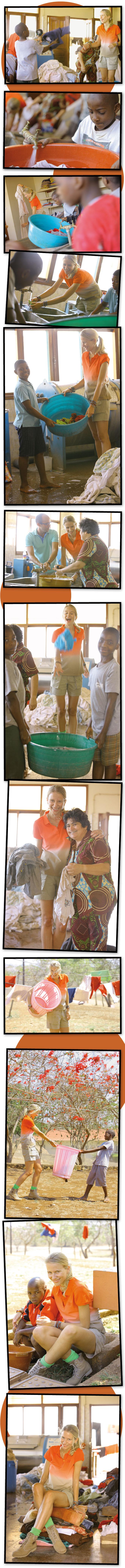 """María León ayudando en el mantenimiento de """"La Casa Do Gaiato"""" en Mozambique"""