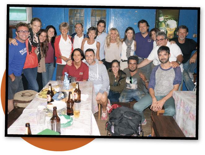 María León y sus compañeros de viaje a Mozambique