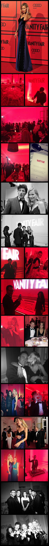 María Léon con su vestido Pedro del Hierro y divirtiéndose en la fiesta Vanity Fair