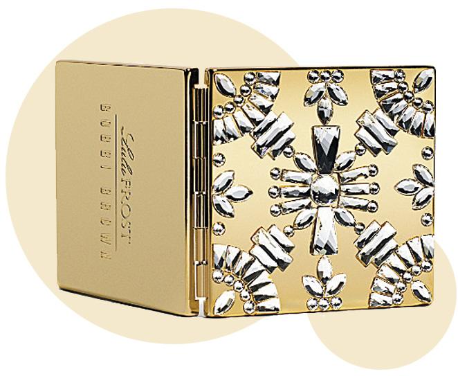 Maravilloso espejo compacto de edición limitada decorado con cristales de Svarovski para Bobbi Brown