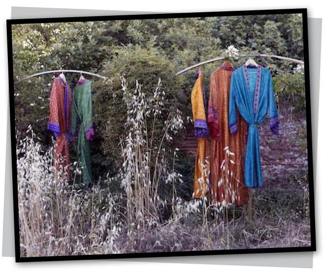 Kimonos de seda de Balakata