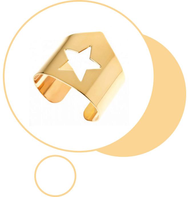 Brazalete con estrella bañado en oro de Mifabula