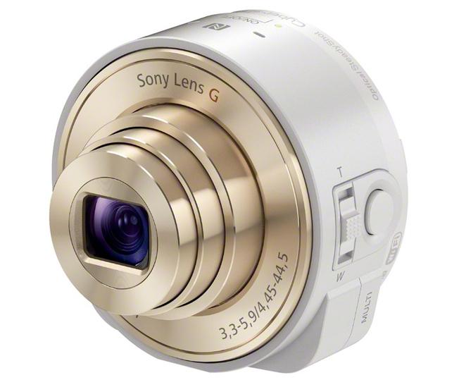 Sony  QX10, que se incorpora fácilmente a tu móvil para poder hacer fotos con tu dispositivo