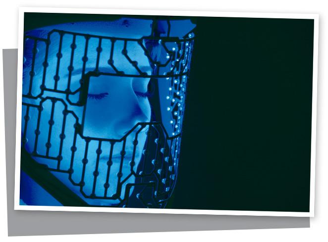 Máscara de luz LED