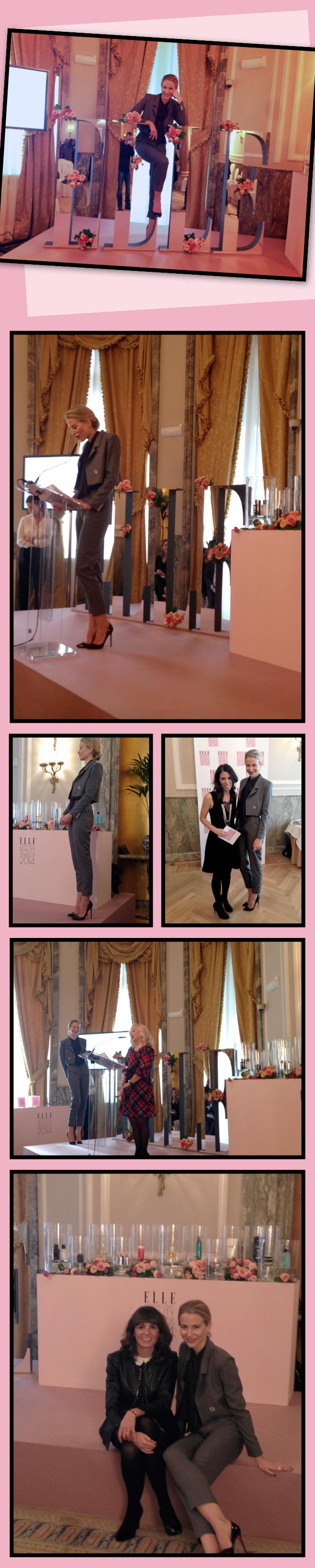 María León tuvo el honor de presentar los Elle International Beauty Awards 2014 en el Hotel Ritz.