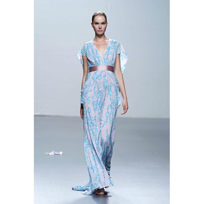 Vestido de Miriam Ocariz