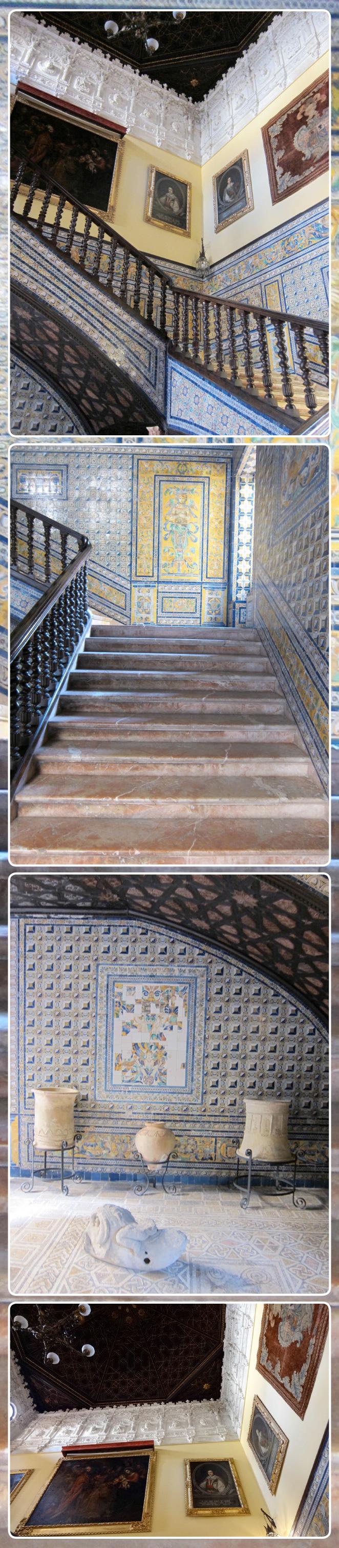 La escalera fue una de las mejores obras de la Condesa de Lebrija.