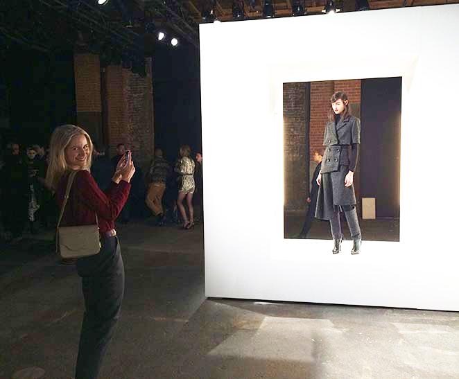 María León en la pasarela de moda de Pedro del Hierro en Nueva York