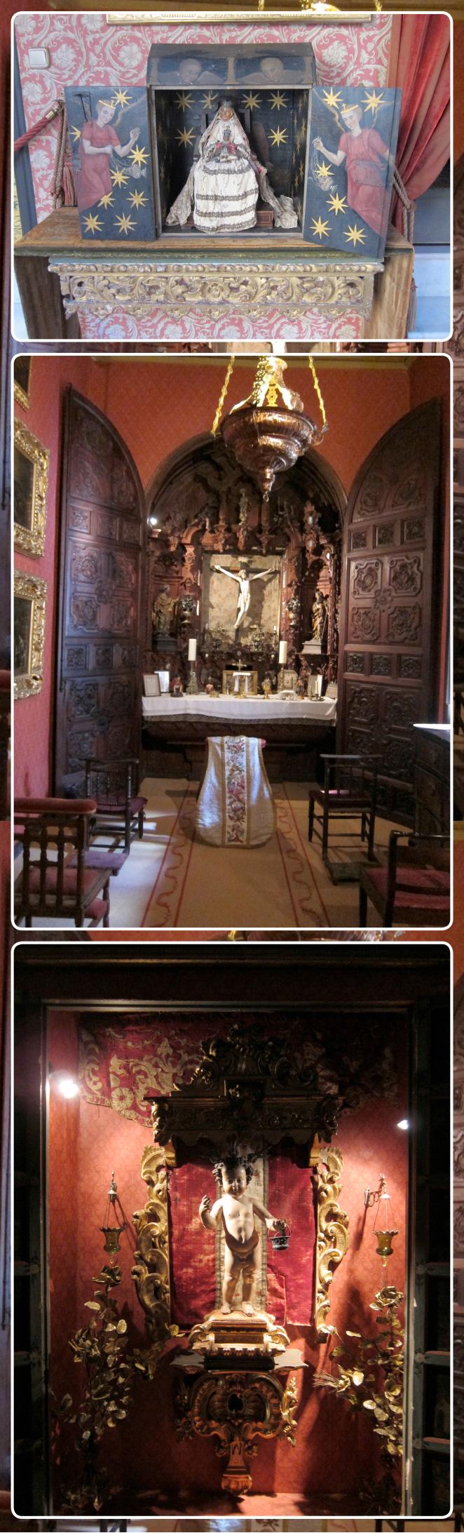 En la capilla se puede ver un retablo de estilo barroco hecho de caoba, y un Cristo filipino del siglo XVIII