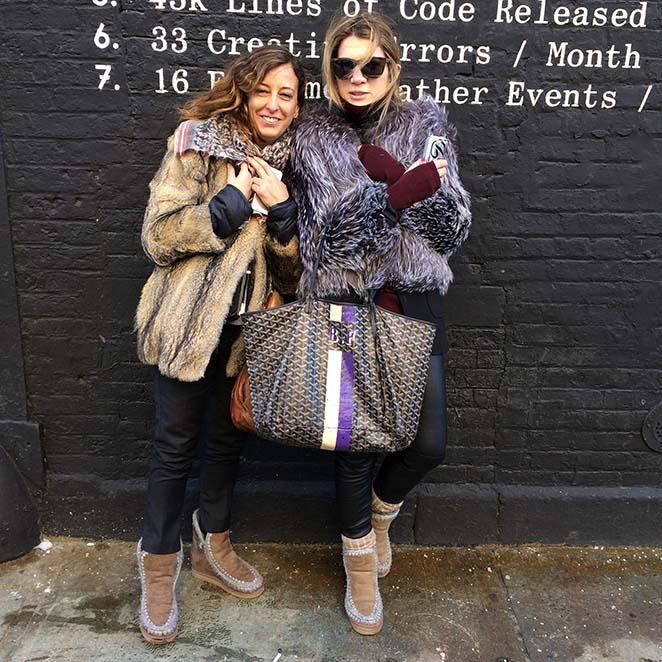 Teresa Rapallo y Beatriz Fernández, las chicas de Fashionistas, responsables de la comunicación de la firma.