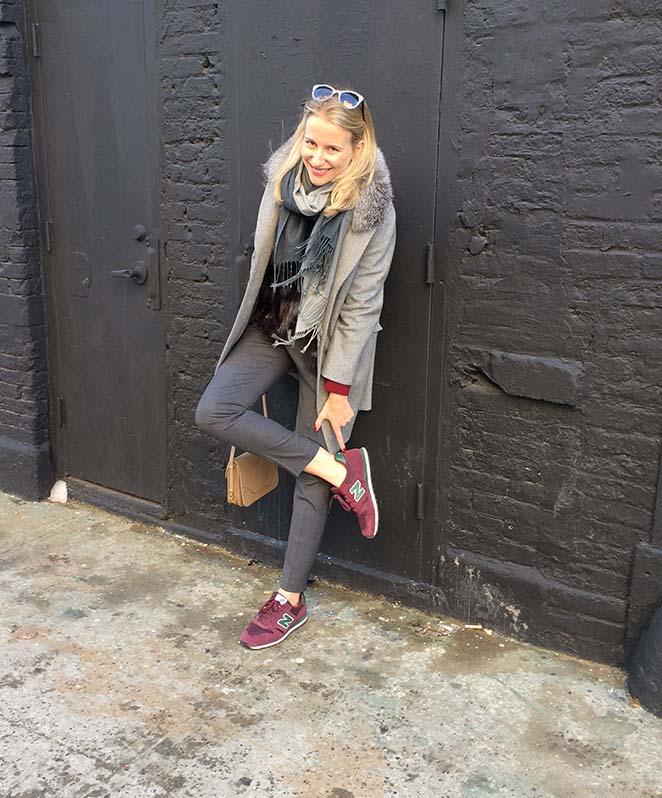 María León con cómodas New Balance por Nueva York.