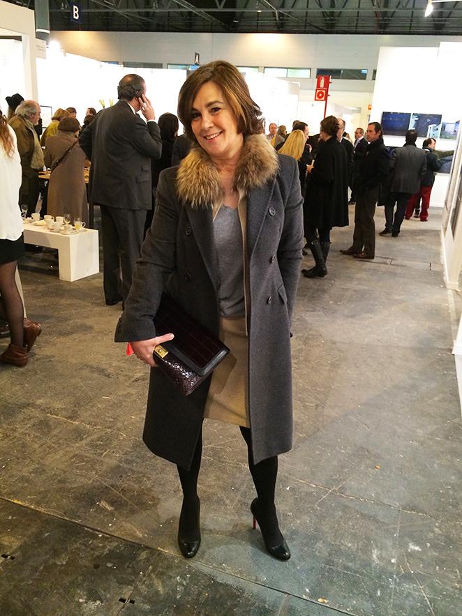 Gente con la que se encontro María León en ARCO Madrid