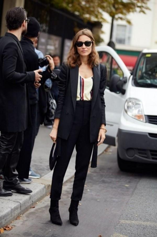 street-style-pfw-2013-traje-chaqueta-y-botines
