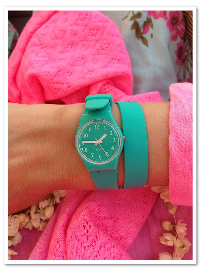 Reloj Swatch de María León