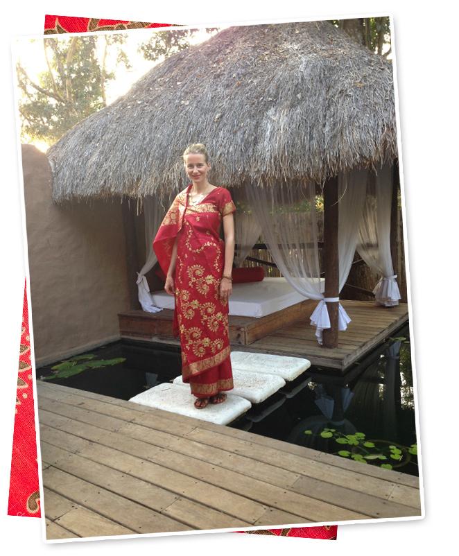 María León con el Sari en Coorg