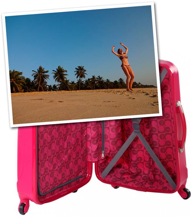 María León en la playa con biquini brasileño que me había regalado mi amiga Isabella Maia de Nails Couture