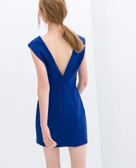 vestido azul Klein de Zara