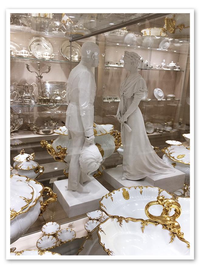 Impresionante vajilla del museo de Sisí - Viena