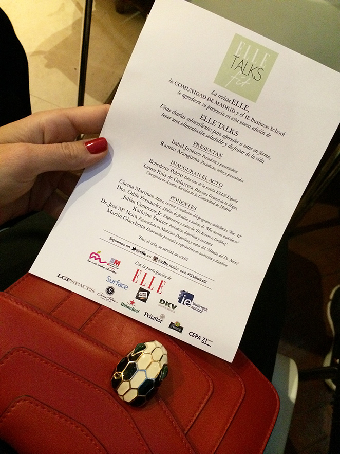 Carta de la revista de moda Elle sobre los Elle Talks