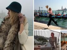 Vestida para Venecia y el Venice Simplon Orient-Express