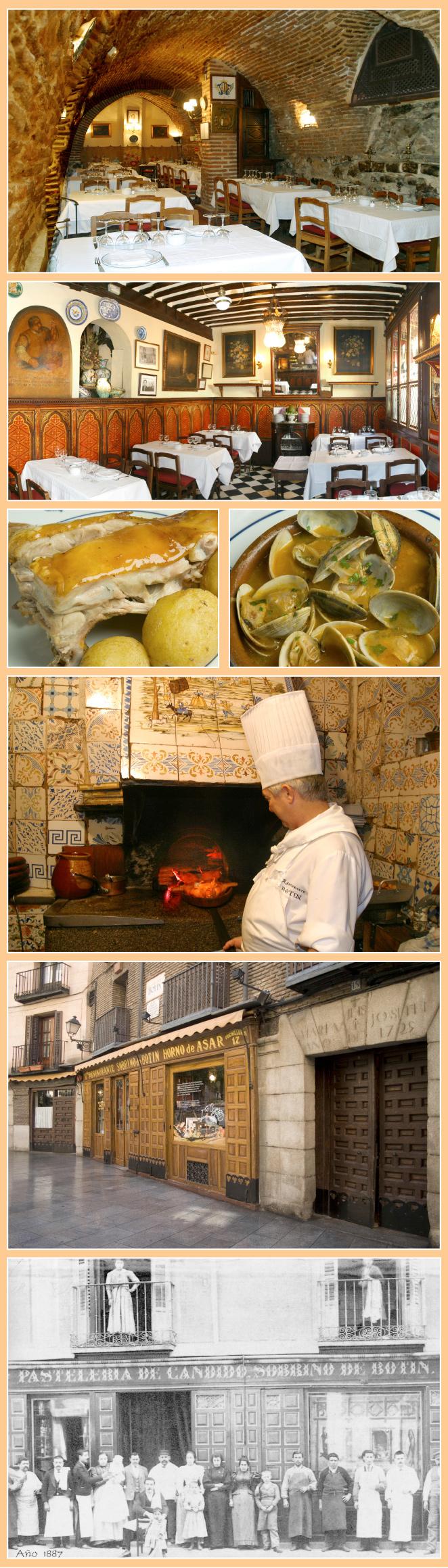 Casa Botín, fundada en 1725, es el restaurante más antiguo del mundo según el Libro Guinness de los Records