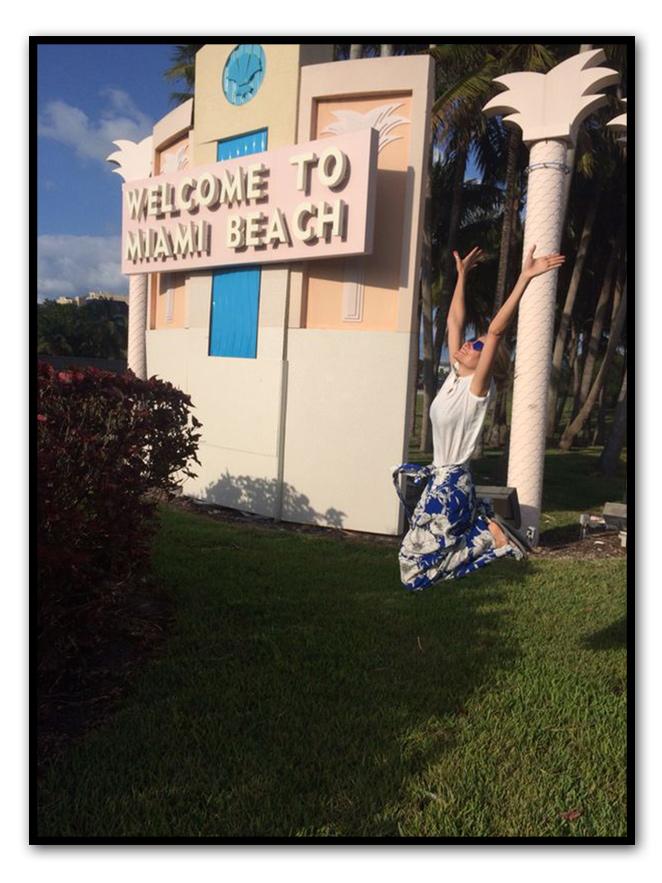 María León en su llegada a Miami