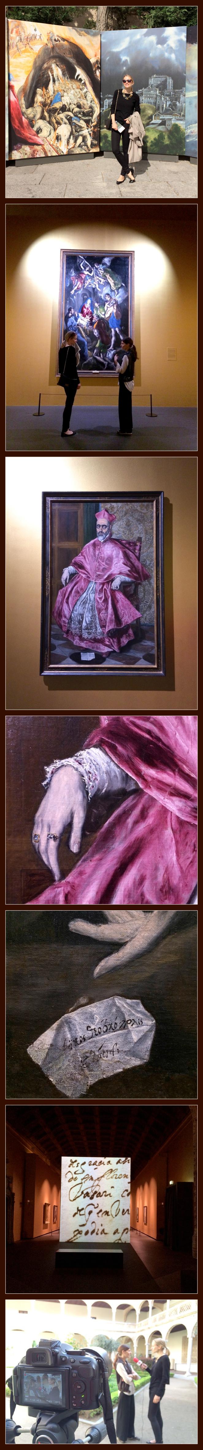 María León entre obras de El Greco