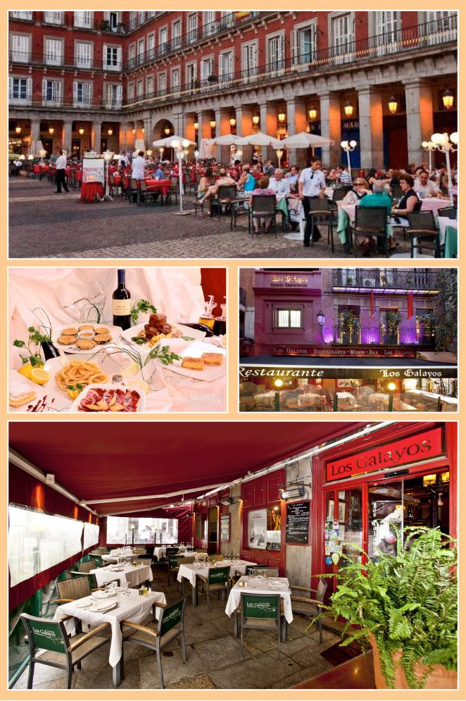 """""""Los Galayos"""" fundado en 1894, este restaurante centenario se encuentra en un espacio único como es la Plaza Mayor"""