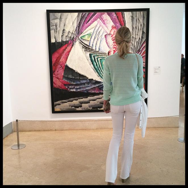 María León visitando el Museo Thyssen