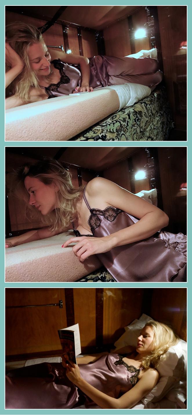 María León para dormir con conjunto lencero muy chic de Diseño 2