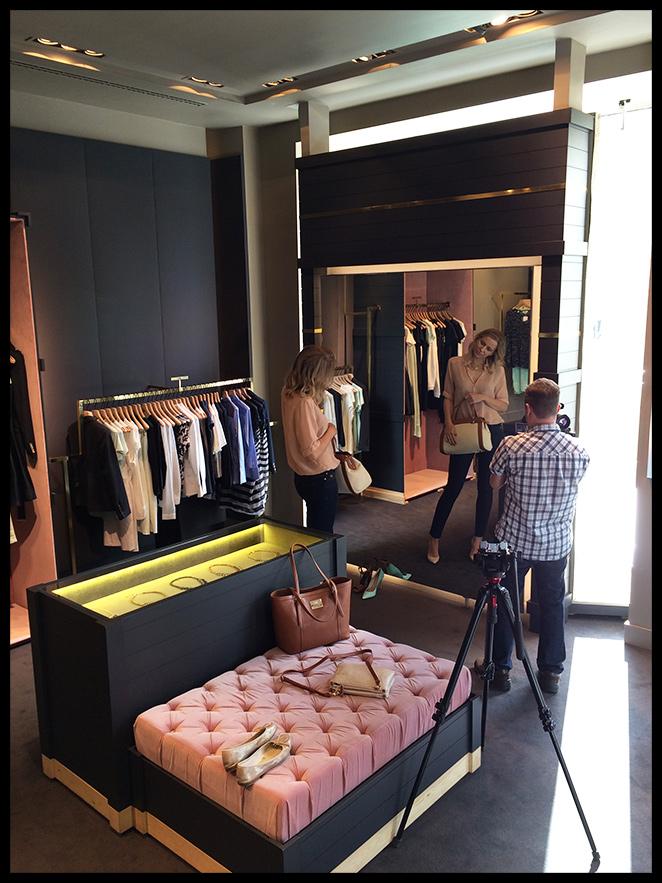 María León de shopping en la tienda de Pedro del Hierro (C/Serrano 24)