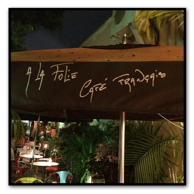 A la Folie Café Francés situado en Española Way (calle de ambiente animado y muy latino) y con terraza muy agradable