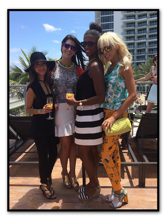 Miami Fashion Week, organizó un brunch con bloggers en el Hotel Eden Roc y entre las invitadas también se dejaba muy patente este look de moda tan típico  de Miami