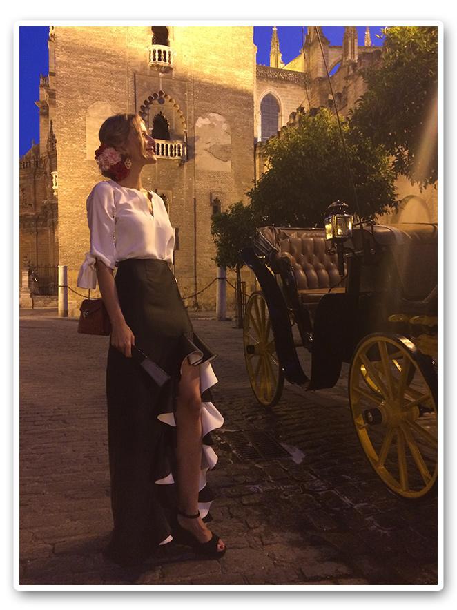 María León de noche en la Feria de Sevilla 2014