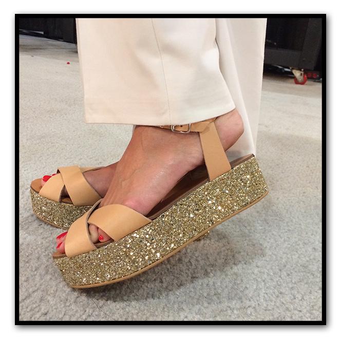 Sandalias de plataforma de Zara Home.