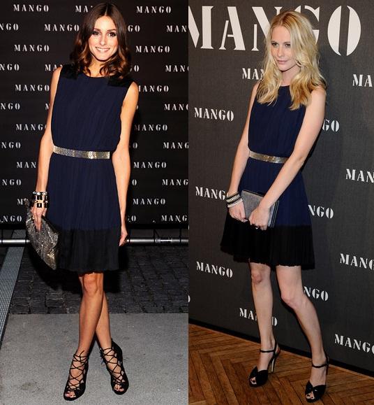 Algunas combinaciones sobre outfits de moda con vestido azul marino
