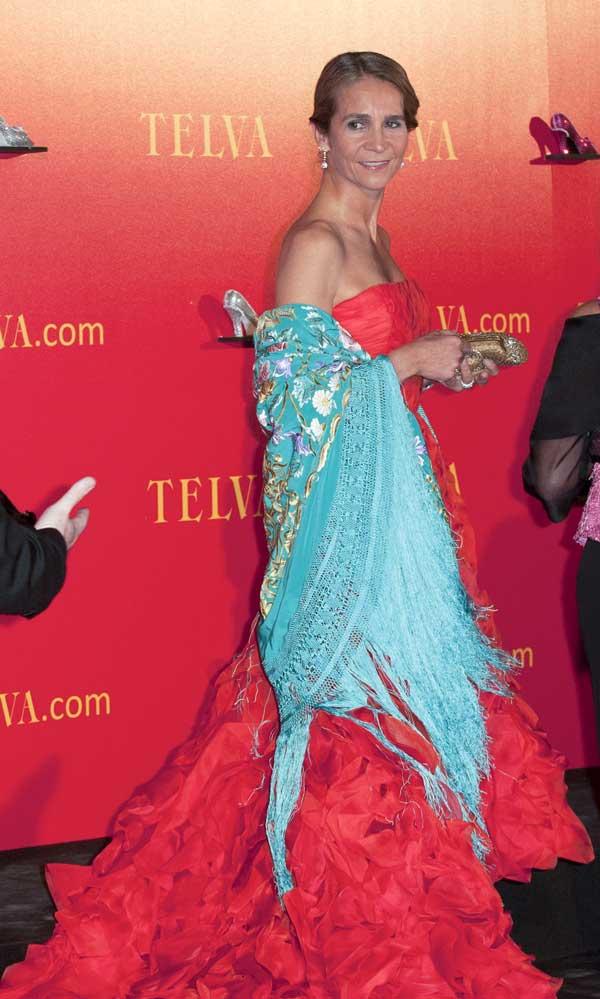 Doña Elena durante la fiesta de premios de la revista de moda Telva 2010