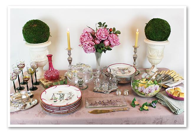 Elementos para la mesa de la fiesta de cumpleaños