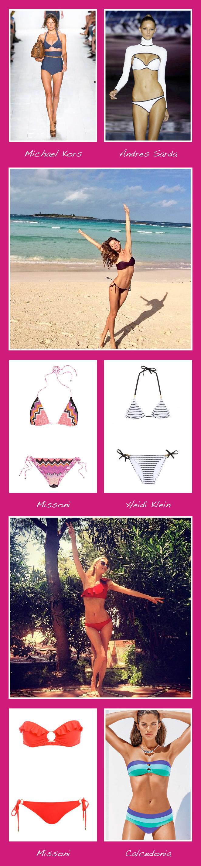 Bikinis de moda para este verano 2014