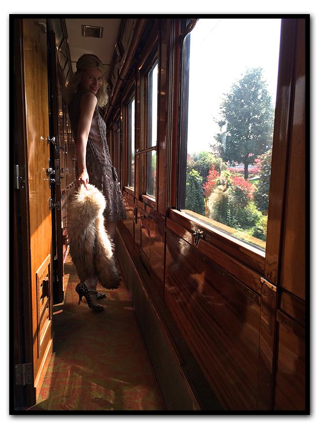 María León, viaje en el tiempo en el Venice Simplon-Orient-Express